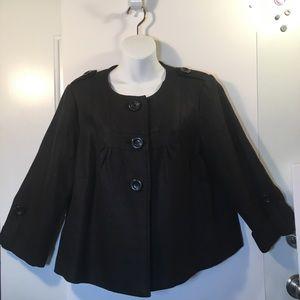 Peter Nygard Collection Jacket Black 3/4 Sleeves